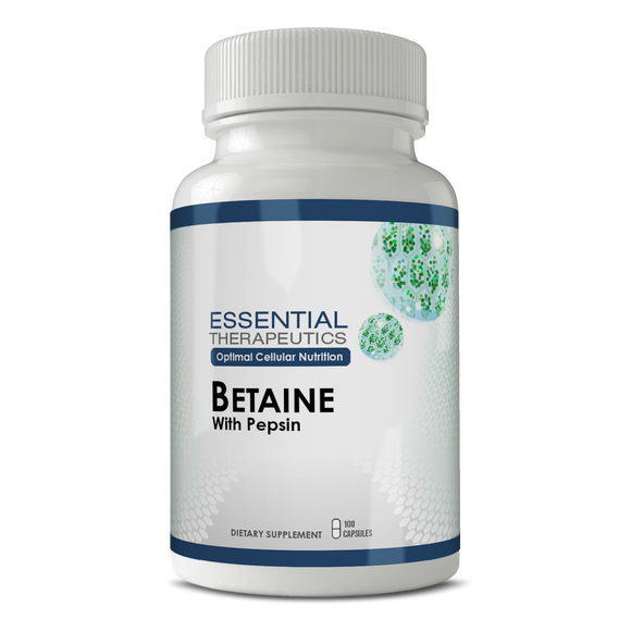 Betaine with Pepsin - Digestive support for bloating, gas, and heartburn