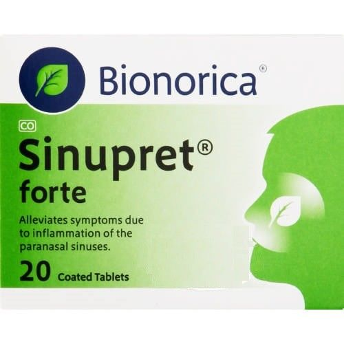 Sinupret-loosens mucus, opens up the sinus and helps with seasonal allergies