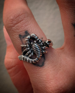 Scorpion Sterling Silver Ring
