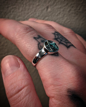 Pentagram Sterling Silver Ring Set
