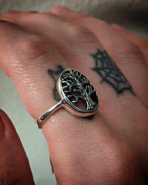 Spooky Tree Sterling Silver Ring