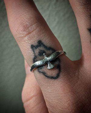 Flying Bird Stacking Sterling Silver Ring