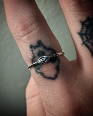 Stacking Eye Sterling Silver Ring
