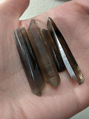 Black Terminated Quartz Crystal Lot E