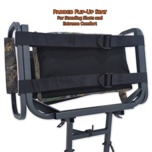 Copper Ridge Outdoors deluxe hang-on stand flip-up seat