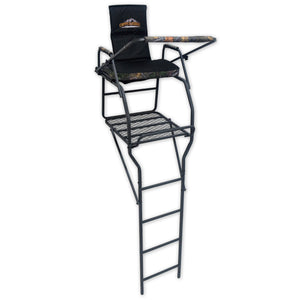 comfortable jumbo hunting ladder stand