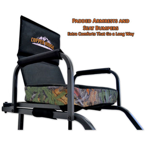 padded armrests and seat bumpers for extra comfort