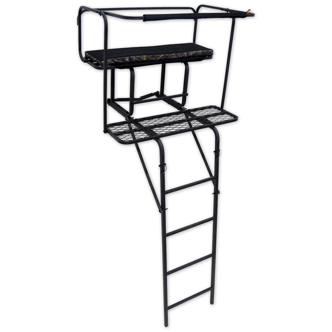 Copper Ridge Outdoors two-man ladder deer stand with padded seat