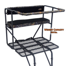 two-man ladder stand with 500 pound weight capacity