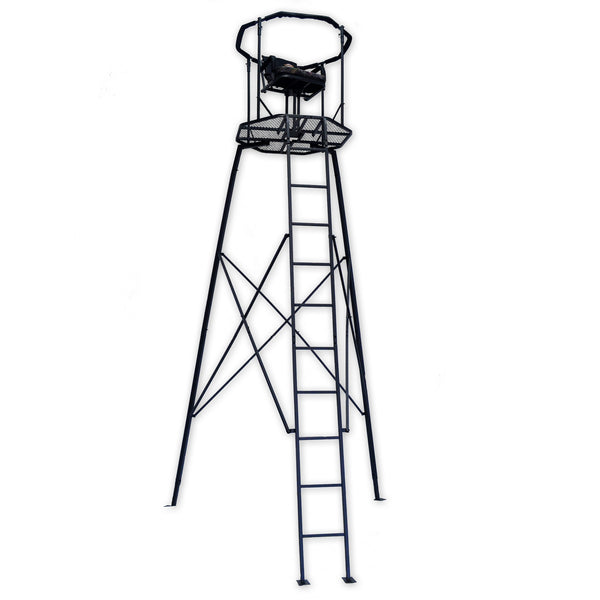hunting tripod stand with swivel seat