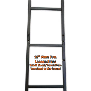 12 inch wide full ladder steps are safe and steady