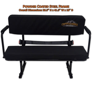 Copper Ridge Outdoors UTV jump seat front view