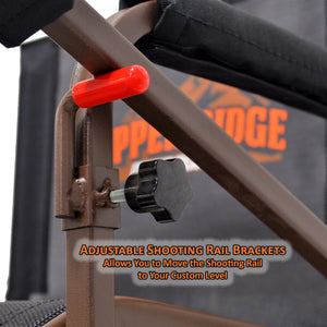 adjustable shooting rail brackets allow you to move the shooting rail to your custom level