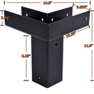 detailed dimensions for elevated platform mounts