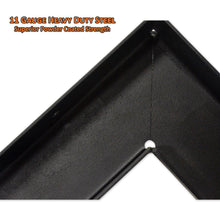 11 gauge heavy duty steel offers superior powder coated strength