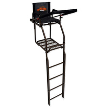 Copper Ridge Outdoors ultra comfort double rail hunting ladder stand full view