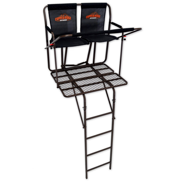 Copper Ridge Outdoors ultra comfort two-man deer ladder stand full view