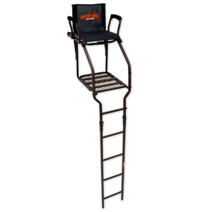 Copper Ridge Outdoors ultra comfort hunting ladder stand full view