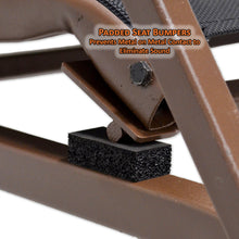 padded seat bumpers prevent metal on metal contact to eliminate sound