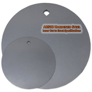 Copper Ridge Outdoors AR500 steel round target various sizes