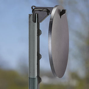 Copper Ridge Outdoors T-post hanger with target side view