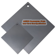 Copper Ridge Outdoors steel square target various sizes with ar500 hardened steel that is laser cut to exact specifications
