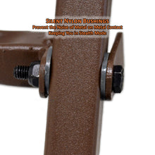 silent nylon bushings prevent the noise of metal on metal contact, keeping you in stealth mode