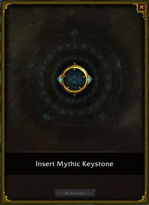 Font of Power, used to activate Mythic Plus dungeons with Mythic Keystone
