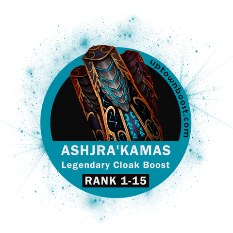 Buy Ashjra'kamas Legendary Cloak Rank lvl Boost Boost - UptownBoost
