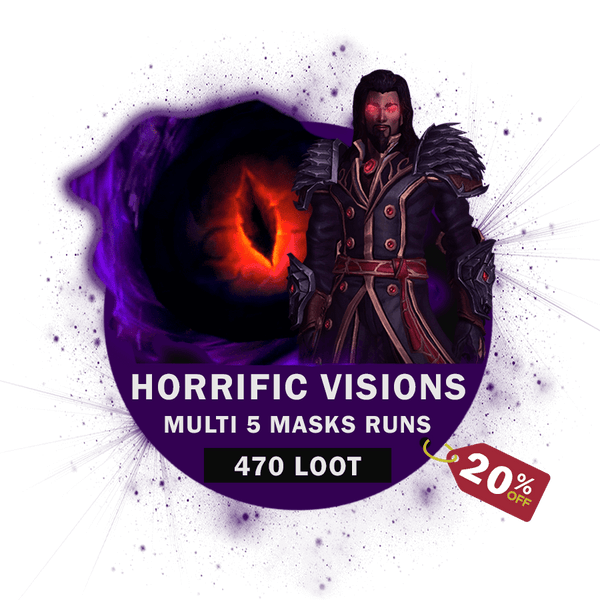 Horrific Visions 5 Masks Multiple Runs [up to 20% OFF]