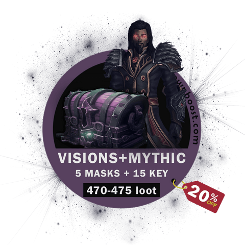 Buy Horrific Visions 5 Masks & Mythic+ 15 In Timer [20% OFF] Boost - UptownBoost