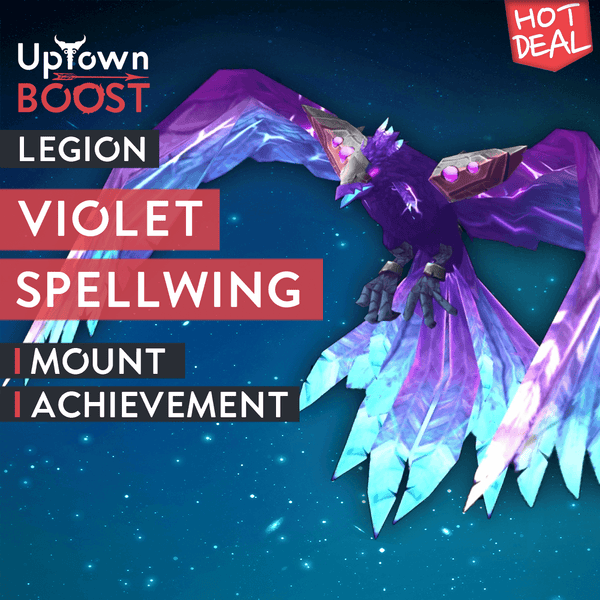 Buy Violet Spellwing Mount Boost - UptownBoost