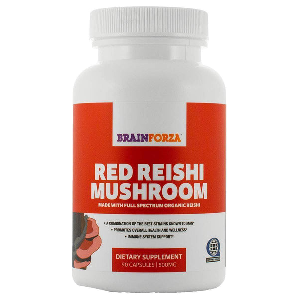 Earth Nourish:Organic Red Reishi Mushroom, 90ct