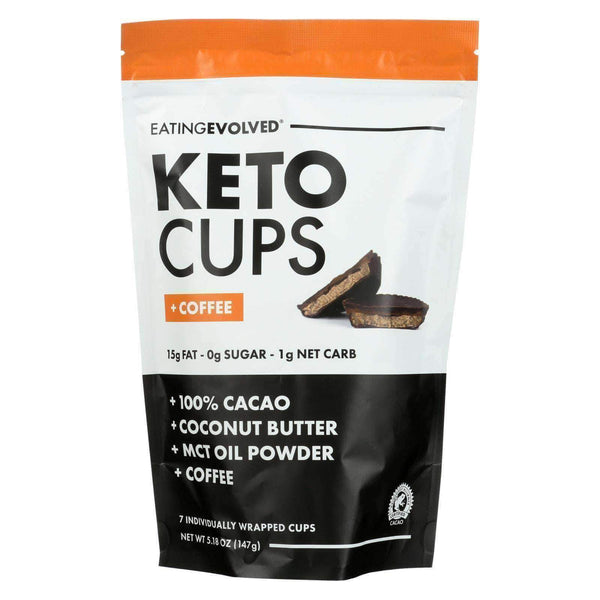 Earth Nourish:Eating Evolved Keto Cups - Coffee Keto Pouch - Case of 6 - 5.25 oz.