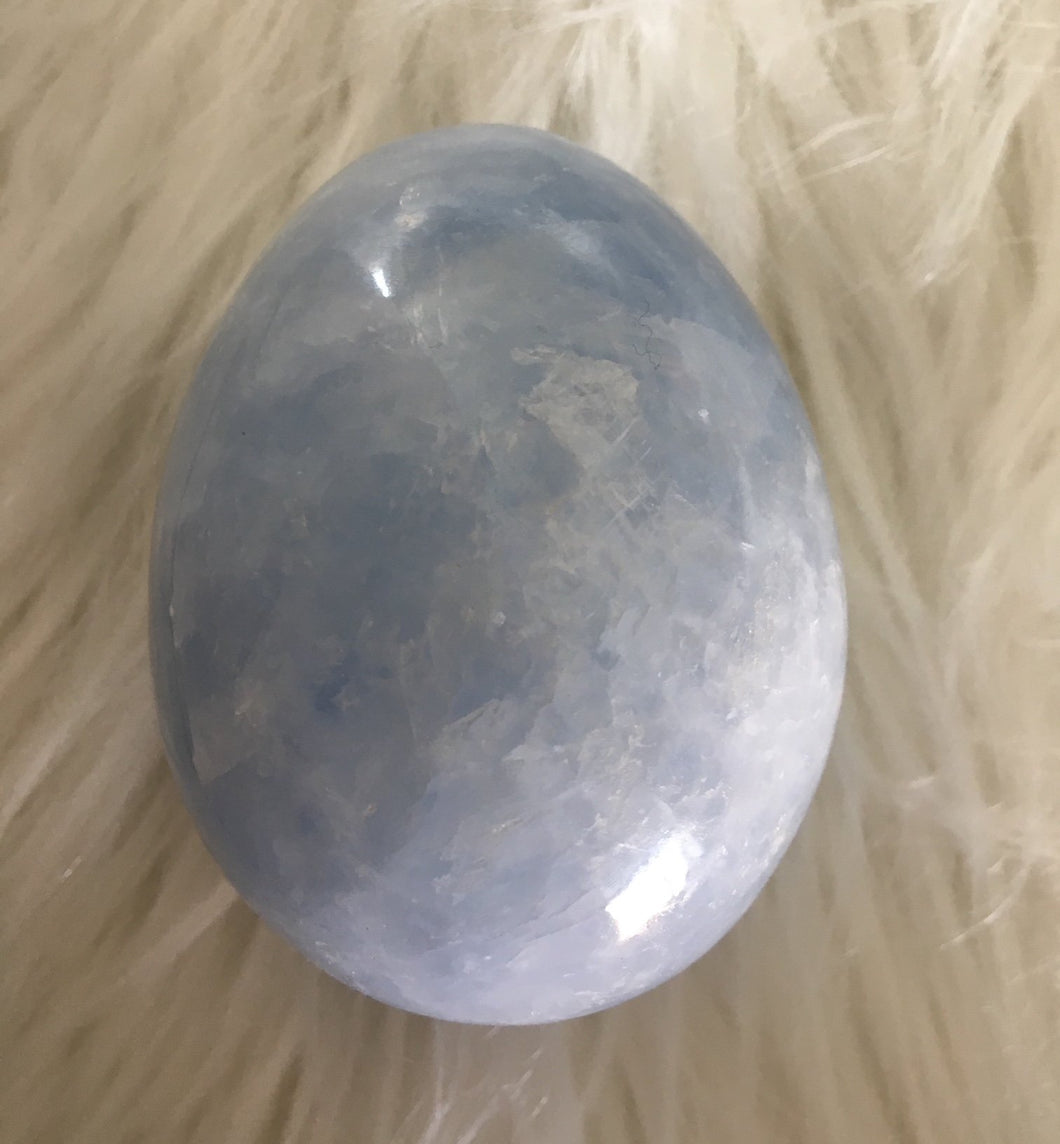 Blue Calcite Egg Large -2