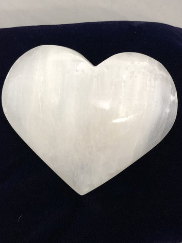 Selenite Medium Heart