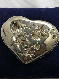 Pyrite Heart Large -2