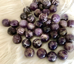 Chevron  Amethyst Small Spheres