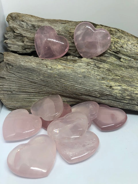Rose Quartz Heart 1