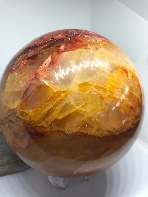 Red Quartz Sphere