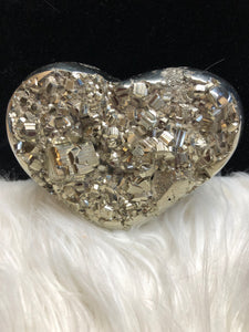 Pyrite Heart Large -3