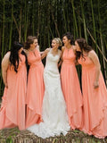 Newest Beading Halter Long A-Line Chiffon Bridesmaid Dresses, Wedding Party Dresses, MD552