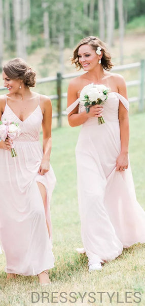 Mismatched Pink Bridesmaid Dresses, Wedding Party Dresses, MD578
