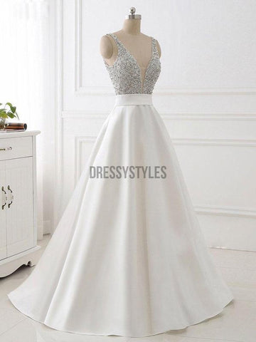 products/A-line_V-neck_Beaded_Top_Ivory_Satin_Long_PromDresses.jpg