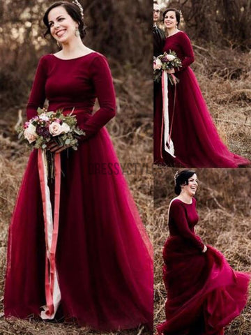products/Burgundy_Long_Sleeves_Tulle_Simple_A-line_Bride_Wedding_Dresses.jpg