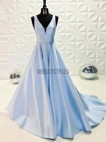 products/Cheap_Simple_Long_V-neck_Satin_Blue_Long_Formal_Dresses_DPB141.jpg
