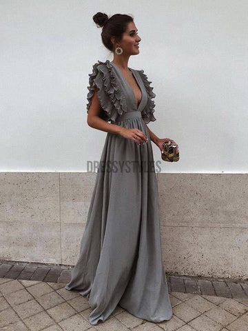 products/Grey_Chiffon_V_Neck_A_Line_Long_Bridesmaid_Prom_Dresses.jpg