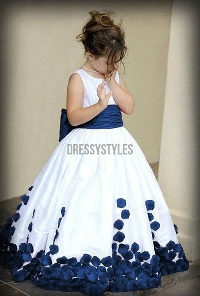 Lovely Long Flower Girl Dresses with Bow GTE2112