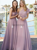 Cheap Mismatched A Line Floor Length Chiffon Long Bridesmaid Dresses, MD469