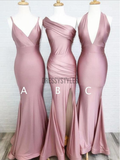 Mismatched Dusty Rose Floor Length Mermaid Long Bridesmaid Dresses, MD491